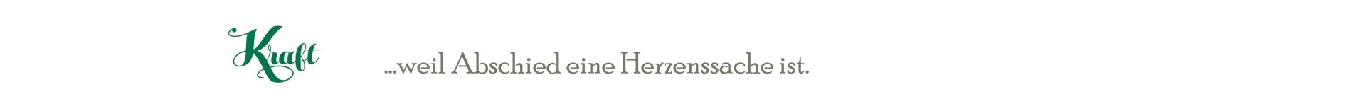 Kraft, ihr Bestatter in 88367 Hohentengen Logo