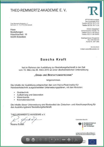 Grabtechnik Sascha Kraft