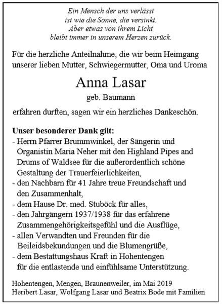 Anna Lasar Bestattungshaus Kraft