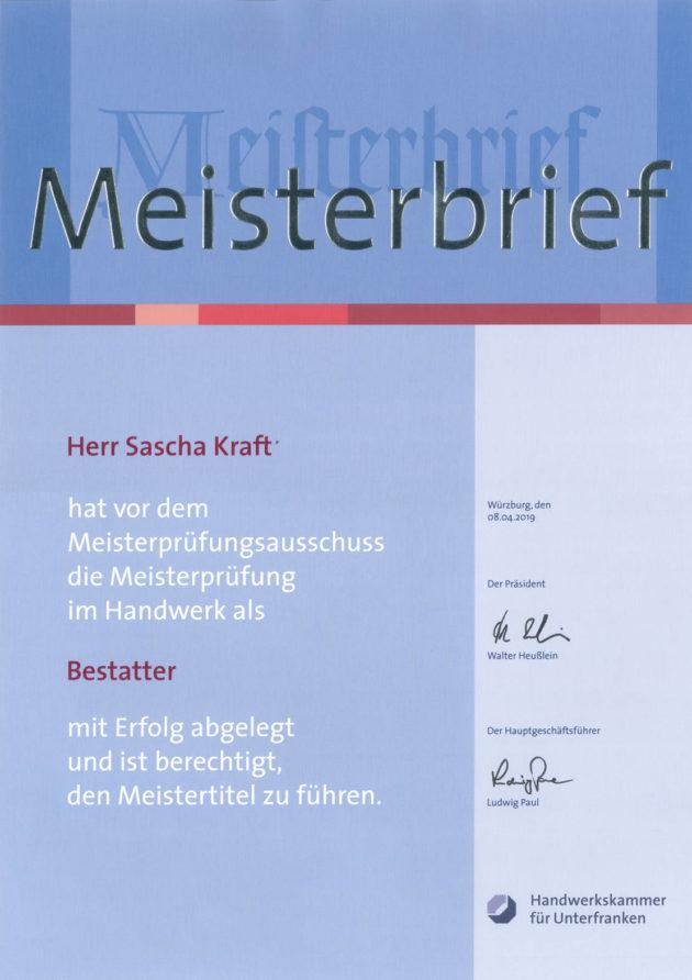 Bestattermeister Sascha Kraft